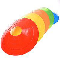 Foricx New Multi -Color Saucer Cones Set of (20) 2 inch Height | Plastic Space Marker Multicolour | Saucer Cones for Field Agility Training