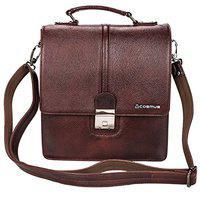 Genuine Premium Unisex Leather Sling Bag - Cosmus Georgia Brown Casual Leather Bag