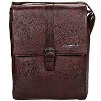 Genuine Leather Sling Bag for Men - Cosmus Florida Brown Leather Bag for iPad