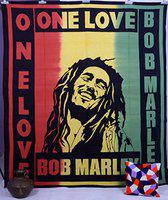 Bob Marley Printed Tapestry Wall Hanging Bed Cover Double Cotton Bed Throw Bedspread Beach Throw by Handicraft-Palace