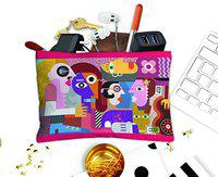 PAPER PLANE DESIGN Multipurpose Canvas Pouch for Travel , Cosmetic ,Office, Stationary, Gadgets, Money Purpose, Handbag. Size 9 X 6 inch (Face -2)