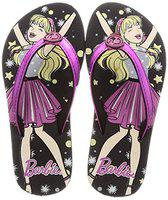 Barbie Girl's Black Flip-Flops-10 Kids UK/India (28 EU) (BBPGFF0244)