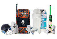 DSC Premium Kashmir Willow Full Cricket Kit with Helmet, Size 6 (Ideal for 11 to 13 Years)