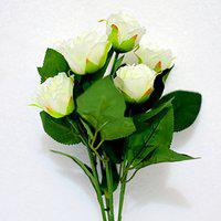 Ashiyanadecors Artificial Rose Off White Flowers Natural Looking for Home & Garden dcor
