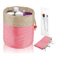 PACKNBUY Cosmetic Makeup Bag Organizer Travel Pouch (Pink)