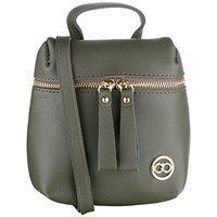 Gio Collection Women's Sling Handbag Green