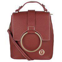 Gio Collection Women's Sling Handbag Red