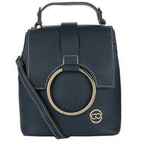 Gio Collection Women's Sling Handbag Blue