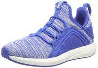 Puma Unisex Kid's Mega NRGY Heather Knit Jr Strong Blue White Sneakers/India (35.5 EU) (4059506208553)