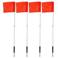 SAS SPORTS Spring Loaded Corner Flags (Set of 4) for Football Soccer Outdoor Use