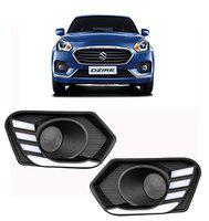 AutoPop Front Fog Light Drl with Indicator for Maruti Suzuki Dzire 2017 (Set of 2)