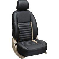 Khushal Hyundai Grand i10 Car Seat Cover Jute and Leatherite Front and Back Seat Covers Set with Free Steering Cover_D2