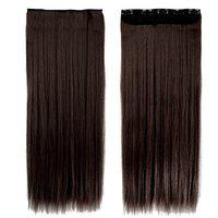 BOXO Synthetic Hair Extension Hair Accessories For Women And Girls, Dark Brown, 50 Gram Pack of 1 (10114)