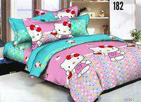 Grand Collections Best Premium 160 TC Cotton Double Bedsheet with 2 Pillow Covers, Cartoon
