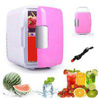 Globalurja 4 Lt Cooling and Warming Mini Portable Refrigerator for Car (Pink)