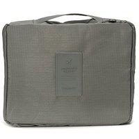 SWADEC Travel Organizer Bag Case Traveling Multipurpose Pouch for Cosmetic Makeup Toiletry Bag -Grey