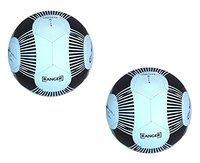 Pack of 2 Set Excellent Design Classic Youth Street Rubber PRO WORLD Ranger Size_4 Black White Diameter 26cm. Soccer Moulded Premium League Champion Training Official Regular Match Game Sports Football Hand Swen /Swed Ball
