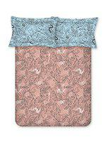 Bombay Dyeing Elixir 144 TC Cotton Double Bedsheet with2 Pillow Covers - Abstract, Pink