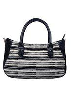 Anekaant Monochrome Jacquard Black and White Handbag