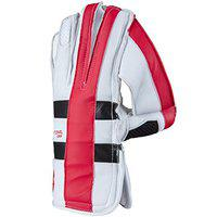 Gray Nicolls GN 9 International Right Handed Leather Cricket Wicket Keeping Gloves - Adult Medium (Red)