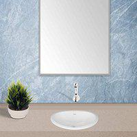 Hindware Mini Oval Counter Top Wash Basin with Single Faucet Hole (Starwhite)