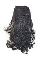 Confidence Curly Ponytail Hair Extension For Women And Girls, Synthetic Hair Extension For Women Wedding, (Colors Are Available Black And Dark Brown) Pack Of 1 (M7)