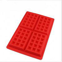 Perfect Mini Square Waffles Pan Cake Chocoloate Muffin 4-Cavit Silicone Tray by Perfect Pricee