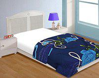 Craft Trade Single Bed Dohar Soft and Light Weight Reversible Ac Comforter Quilt (Floral Blue)