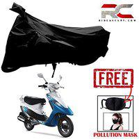 Riderscart All Season (Weather) Waterproof Bike Cover for Tvs Scooty Pep Indoor Outdoor Protection Combo with Storage Bag and Face Mask