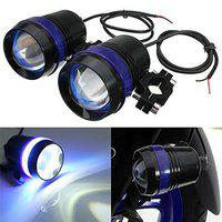 Pivalo 25W U3 CREE Fog Spot Light, Universal Waterproof Beam Projector Lamp for Bikes & Motorcycles (2 Pieces, Blue)