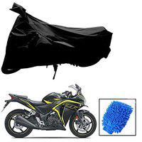 Riderscart All Season (Weather) Waterproof Bike Cover for Honda CBR 250R Indoor Outdoor Protection Combo with Storage Bag and Microfiber Glove