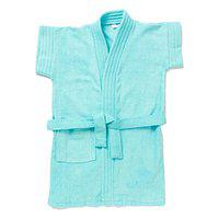 EIO Soft Baby Boys Girls Dressing Gown Bath Robe (Turquoise, 5-6 Years)