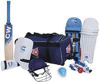 Lefty Academy Complete 9 Item Cricket Gears Junior Kit Size 4 Ideal For 7-8 Yr Small Boys Complete Accessories Tournament Match Set Designed For Left Handed Batsmen Cricket Gears All In Blue Color By Cricket World