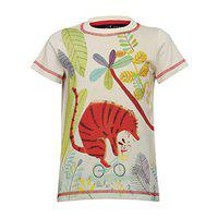 Tales & Stories Butter Cotton Printed Half Sleeved T-Shirt for Baby Boys