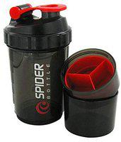 S.Blaze Amazing Spider Protein Shaker/Water Sipper Gym Bottle for Both Men and Women (Red, 500 ml)
