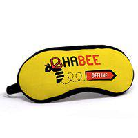 Indigifts Sister In Law Gift Bhabhi Offline Quote Printed Yellow Eye Mask 7.8X3.3 inches - Gifts For Sister In Law, Sister In Law Birthday Gift, Bhabhi Rakhi Gift, Bhabhi Birthday Gift, Raksha Bandhan Gift