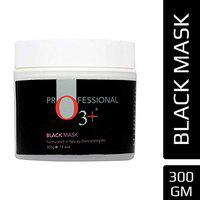 O3+ 7-in-1 Facial Black Mask for Brightening Effect, Skin Detoxification, Anti Bacterial and Anti-ageing for All Skin Types (300gms)