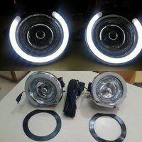 Automaze Car Fog Lamp Daytime Time Running Lights (DRL) For Mahindra Bolero, 2 Pc set, Neon DRL