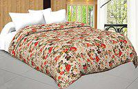 Craft Trade Double Bed AC Dohar Micro Cotton Soft and Light Weight Printed Ac Comforter for Bedroom (Floral)
