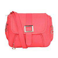 GulshanCollection Women Evening/Party, Casual PU Sling Bag With Front Buckle (Pink)