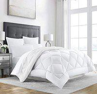 Linenovation Classic 200GSM 5* Star Hotel Microfiber -Duvet/AC Comforter/Quilt - Solid White - Single Size (60x90)