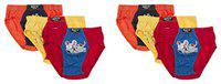 DORA Boys Cotton Cute Vertical Contra Briefs Style 1505 (Pack of 6) Color May Vary (65 cm)