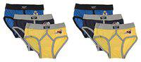 DORA Boys Cotton Cute Lycra Waist Band Y Front Briefs Style-1507 (Pack of 6) Color May Vary (60 cm)