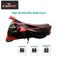 Kandid Bike Cover for Hero Xtreme 200R with Mirror Pocket in (Small Size Matte Black/Red Color)