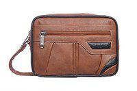 Black Bird Synthetic Leather 8.5 Inches - | Messenger Bag | Office Bag |