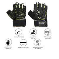 FITUP LIFE Gym & Cycling Leather Gloves with 3mm Gel Padding (Imported) Size : S