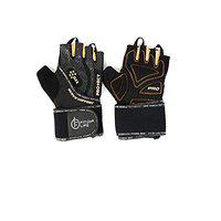 FITUP LIFE Gym & Cycling Leather Gloves with 3mm Gel Padding (Imported) Size : L