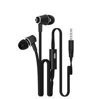 Futaba in Ear Running Colourful Wired Headsets - Black