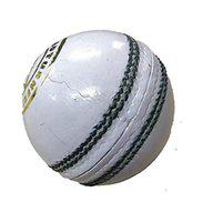 HeadTurners Cricket Classic Cricket Leather Ball - for Test/One Day/T-20 / Practice Matches. White, Upto 25 Overs