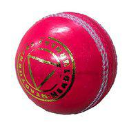 HeadTurners Cricket Classic Cricket Leather Ball - for Test/One Day/T-20 / Practice Matches. Pink, Upto 25 Overs